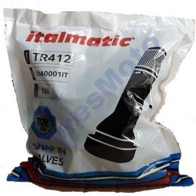 Βαλβίδα TR412 Italmatic 100 τεμ. TyresMoto